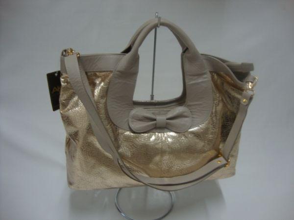 Bolsa Dourada Transversal : Bolsa feminina dourada couro c al?a transversal